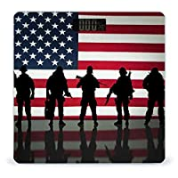 アメリカ国旗復員軍人の日兵士軍 LCDディスプレイ付き高精度スマートフィットネススケール体重デジタルバスルームボディスケール