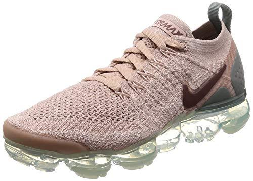 Nike Women's Air Vapormax Flyknit 2 Running Shoes (7, Beige/Green)