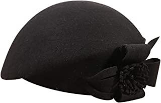 Zoylink Womens Beret French Beret Retro Large Flower Hat Beanie Cap for Ladies