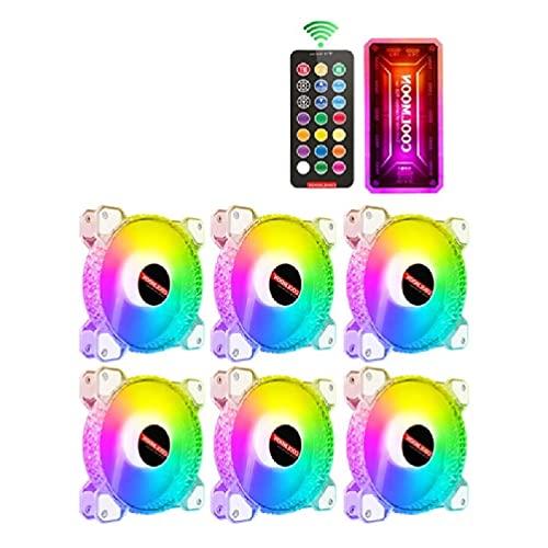 Angelliu, Chasis De Computadora, Ventilador De PC De Diamante, Ajustador De Ventilador De Refrigeración RGB, Enfriador De Computadora Silencioso, Ventiladores De Carcasa De Refrigeración RGB 120mm