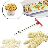 spiralizzatore per verdure, Tuscom macchina rotante manuale Magic roller Spiral Slicer Ravanello patate a spirale taglierina
