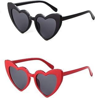 Retro Vintage Clout Goggle Heart Sunglasses Cat Eye Mod...