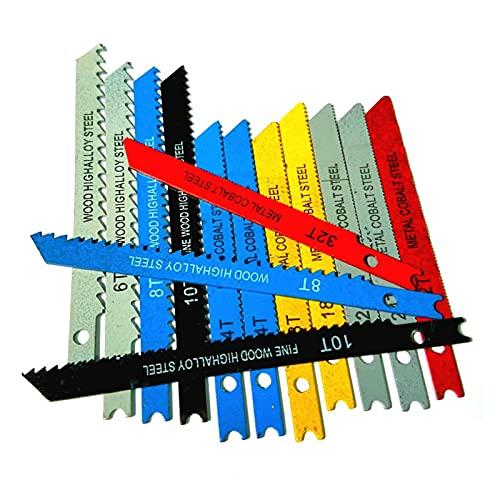 KESHIKUI New MEI 14pcs U-SHINK JIG Set Set Blade Assorted Metal Steel Jigsaw Blade Adatto Adatto per Utensili da Taglio in plastica in Legno