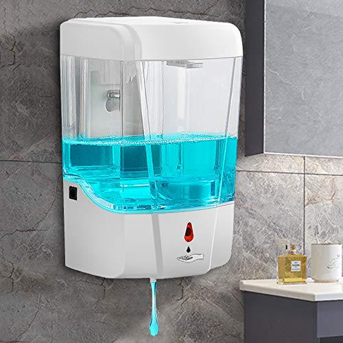 Dispenser di sapone disinfettante per le mani con rilevamento automatico, senza contatto, 700 ml, grande capacità, modello gel / liquido o schiuma