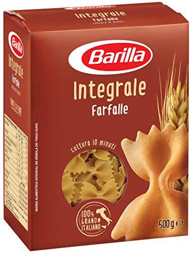Barilla Pasta Farfalle Integrali, Pasta Corta di Semola Integrale di Grano Duro, Integrale, 500 g