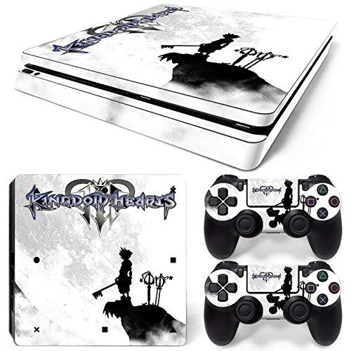 46 North Design Playstation 4 PS4 Slim Folie Skin Sticker Konsole Anime aus Vinyl-Folie Aufkleber Und 2 x Controller folie