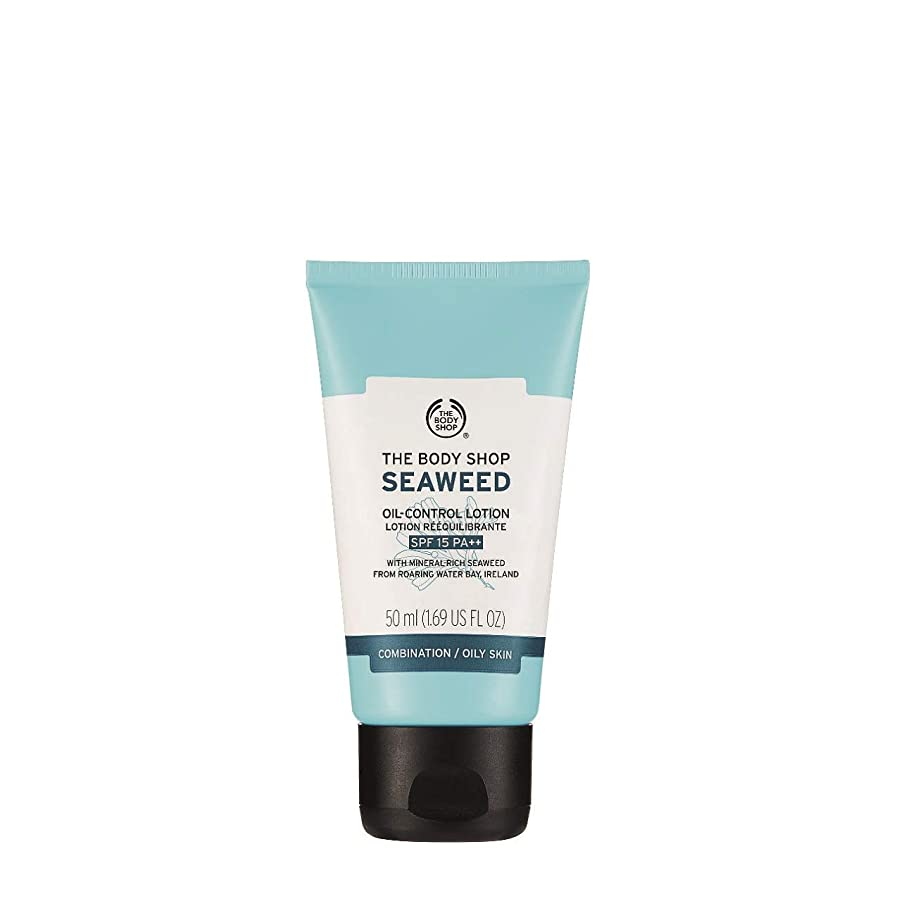 The Body Shop Seaweed Oil-Control Lotion SPF 15, Paraben-Free Face Lotion, 1.69 Fl. Oz.