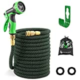 G GOOD GAIN Expandable Garden Hose with 10 Function Water Spray Gun, 75
