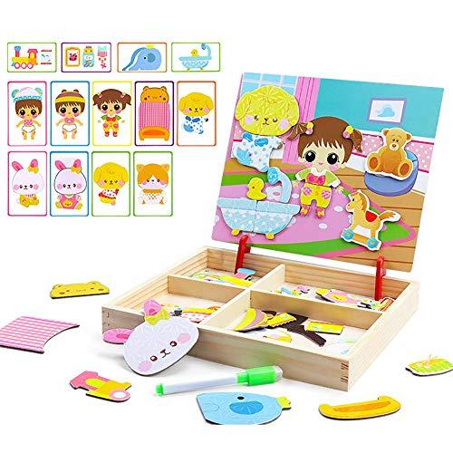 Dress Up & Learn - juego de rompecabezas magnético en 3D, estuche para rompecabezas, juguetes educativos para regalos de rompecabezas (Baby Dress Up)