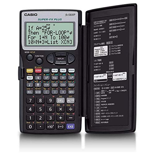 CASIO FX-5800P calcolatrice scientifica programmabile - Contiene 40 costanti scientifiche, 128 formule integrate