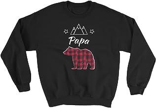 COSPLACOOL JQO Designs | Matching Family Papa Bear | Mens Gildan 18000 Heavy Blend Sweatshirt