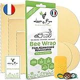 Loomy Bee Wrap ou Emballage Cire d'abeille Réutilisable - Lot de 6 - Film...