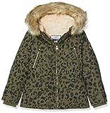 IKKS Junior Parka Imprimee Leopard Impermeable, Verde (Kaki 56), 3 años (Talla del Fabricante: 3A) para Niñas