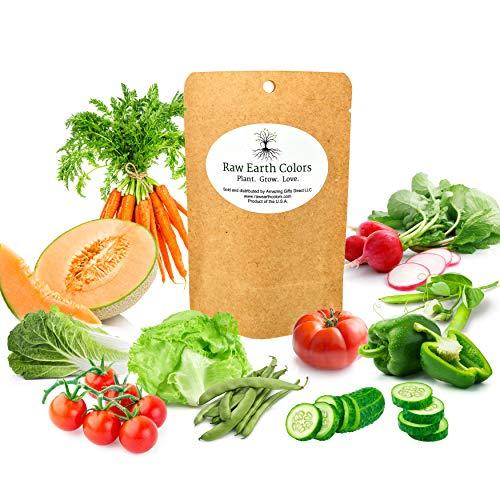 Vegetable Seeds for Planting Vegetables Outdoors in a Home Garden - Variety Pack of Twelve Vegetable...