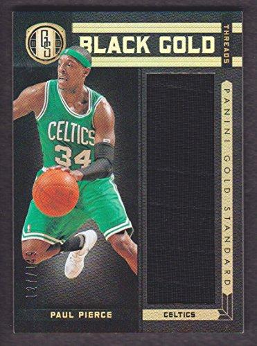 2011-12 Panini Gold Standard Basketball Black Gold Threads #32 Paul Pierce 127/149 Jersey Celtics