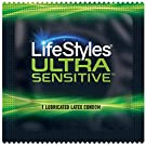 LifeStyles Ultra Sensitive Natural Feeling Lubricated Latex Condoms, Black, 40 Count (1746) #4