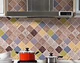 kitchen-dream Papel Pintado de Papel de Aluminio,Papel Tapiz Autoadhesivo,Papel Tapiz de baño y Cocina de 3 Metros,Papel Pintado Impermeable y Resistente al Aceite de Respetuoso con el Medio Ambiente