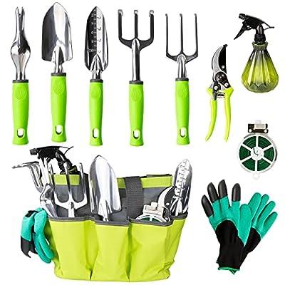 Amazon - 60% Off on Garden Tool Set, 10pcs Heavy-Duty Aluminum Gardening Hand Tools