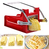 STAINLESS POTATO CHIPPER FRENCH FIRES SLICER CHIP CUTTER CHOPPER MAKER 2 BLADES