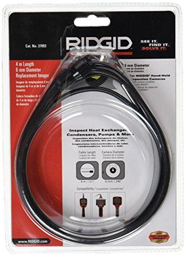 RIDGID 37093 Testa della telecamera da 6 mm con un cavo da 4 metri, testa della videocamera, ricambi RIDGID SeeSnake