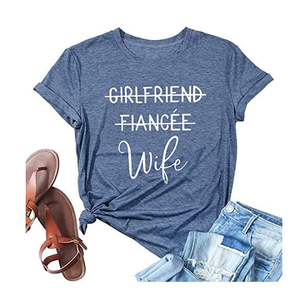 Girlfriend Fiancee Wife Shirt Women Cute Engagement Gift for Bride Honeymoon Vacation...