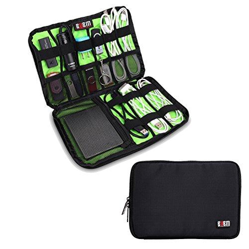 Damai Electronics Accessories Carry On Bag/Cable Organizer/USB Drive Shuttle/Hard Drive Case-Large (Black)