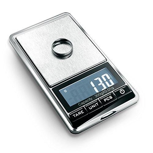 flexzion joyería Escala Digital Mini Diamond oro moneda objetos pequeños peso gramo peso herramienta de bolsillo pantalla LCD 300g x 0,01G precisión portátil 7unidad interruptor plata