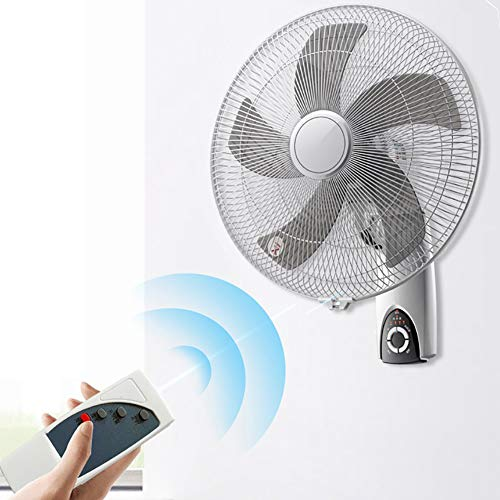 ZDYLM-Y Ventilador de Pared con Mando a Distancia, con Control Remoto, 3 Modos oscilantes, 7,5 h de Tiempo, para el Verano en el hogar/Oficina