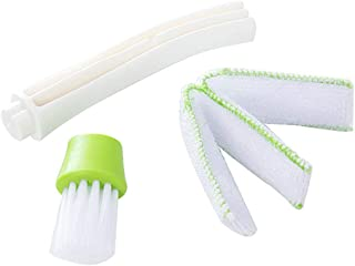 Herramienta del cepillo del polvo del coche Cepillo del aire acondicionado del coche Cepillo de rejilla Cepillo de limpieza multifunción Herramienta de limpieza - Verde y blanco