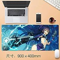 Vampsky 拡張大型マウスパッドテーブルマットHonkaiインパクト第三のゲームキャラクター八重さくらセレブレーションノンスリッププロフェッショナルゲーミングマウスパッドまたはラップトップコンピュータやPCのホームオフィス90 * 40センチメートル (サイズ : Thickness: 3mm)