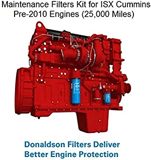 Maintenance Filters Kit for ISX Cummins Pre- 2010 Engines (25,000 Miles)