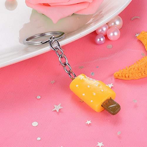 Sinzong Schlüsselringe Für Mädchen EIS EIS Eisstock EIS Schlüsselanhänger Tasche Ereignis Geschenk Anhänger 2 Stück Gelb