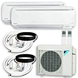 DAIKIN Dual (2 Zone) Air Conditioner Heat Pump + Maxwell 15 ft. Installation Kit + Wall Bracket (18000 + 18000 BTU)