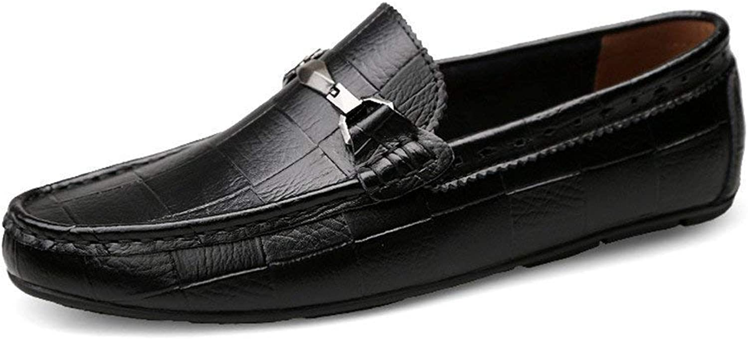 Hhgold 2018 Mens Moccasins shoes, Mens Driving Moccasins Slip-on Genuine Leather Bare Vamp Loafers Comfortable Casual Driving Moccasins (color  Black, Size  45 EU) (color   As shown, Size   One size)