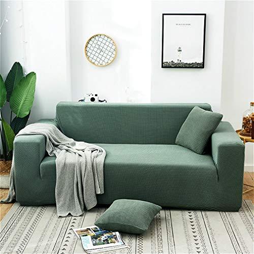 Funda de sofá elástica suave para sofá de 3 plazas, funda de sofá elástica universal, lavable a máquina/funda de sofá de licra antideslizante (gris)