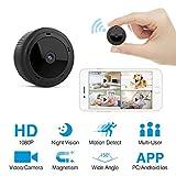 HEYSTOP Mini Caméra Espion, WiFi Camera Surveillance Cachée HD 1080P Portable Petite Caméra Support Détection de Mouvement Surveillance Enregistreur Vidéo avec Mobile Live View