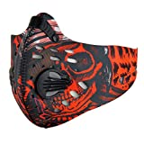 Toygogo Sturmmaske Windmask Gesichtsmaske Snowboardmaske - rot