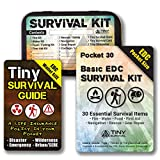 DIY - Ultimate EDC Basic Pocket Survival Kit: 34-in-1 Build Bundle: Pocket 30 Kit + Tiny Survival Guide + Survival Tin Kit/Do-It-Yourself Emergency, Disaster Kit - Great Gift!