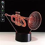 3D Trumpet Lamp