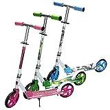 Hengda Kinderroller ab 5 Jahre, Kinderscooter 205mm Kick Scooter, klappbar Kinderroller mit 2 Radern Höhenverstellbar Sichere Premium Kinder Roller (Blau)