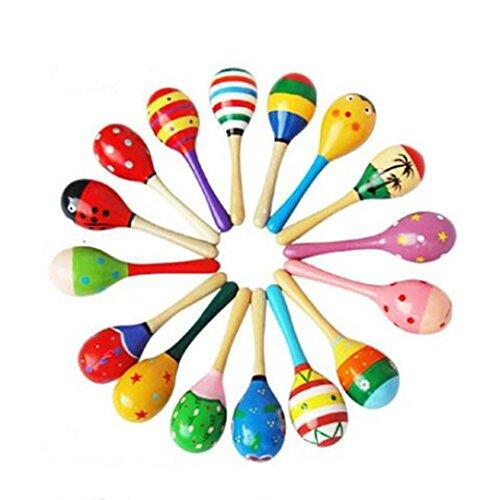 Juguetes del bebé,Bola de Madera Niños Juguetes Percusión Instrumentos Musicales Martillo de Arena LMMVP