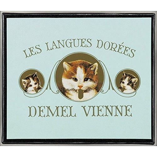 デメル 猫 ラベル ソリッド チョコ ミルク 一口サイズ 甘さ控えめ 猫の舌の形 バレンタイン 猫ラベル ギフト