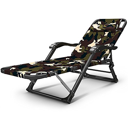 Camping Bed Recliner Office Lunch Break Chair Portable Folding ligstoel Camouflage Pas Buiten opklapbed