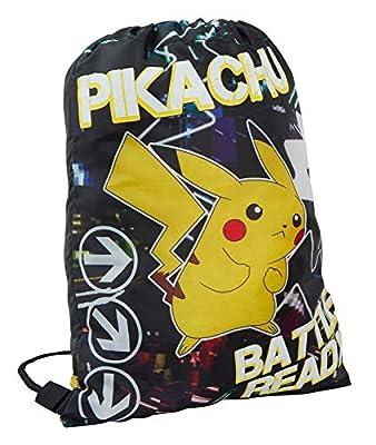 Pokemon - Bolsa de Gimnasio con cordón Que Brilla en la Oscuridad, Ideal para niños y Adolescentes, Color Bolsa con cordón, tamaño Talla única por Pokemon
