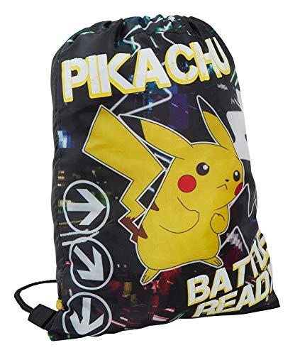 Pokemon Turnbeutel mit Kordelzug, leuchtet im Dunkeln, Tasche mit Kordelzug (Schwarz) - MNCK13330