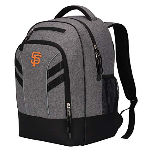 Officially Licensed MLB San Francisco Giants 'Razor' Backpack, 19 x 8 x 12 in, Gray