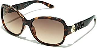 GUESS Factory Women's Round Chain-Temple Sunglasses