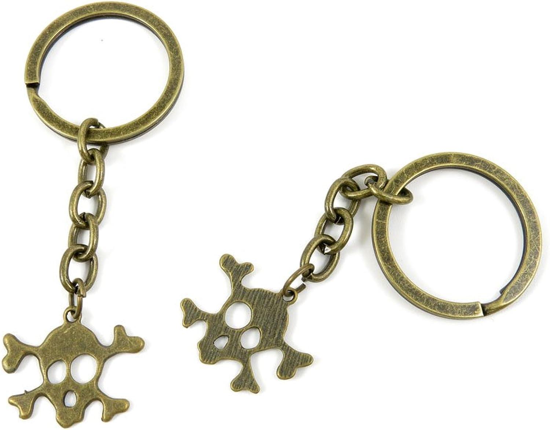 150 Pieces Fashion Jewelry Keyring Keychain Door Car Key Tag Ring Chain Supplier Supply Wholesale Bulk Lots K9UN8 Skull