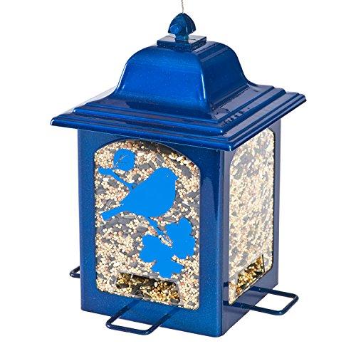 Perky-Pet Mangeoire oiseaux Lanterne Bleu éclatant anti-écureuil - Décoration solide à suspendre dans votre jardin - Capacité max. 1,4 kg de graines #363B
