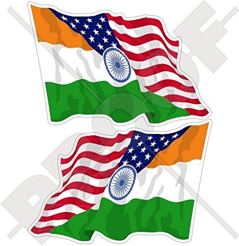 USA Verenigde Staten van Amerika & INDIA Amerikaans-Indische Vliegende Vlag 3
